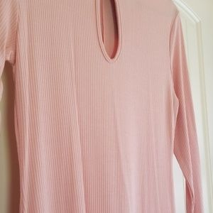 See You Monday Dresses - Ribbed Pink Dress